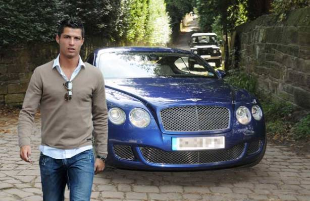 CR7 and his Bentley