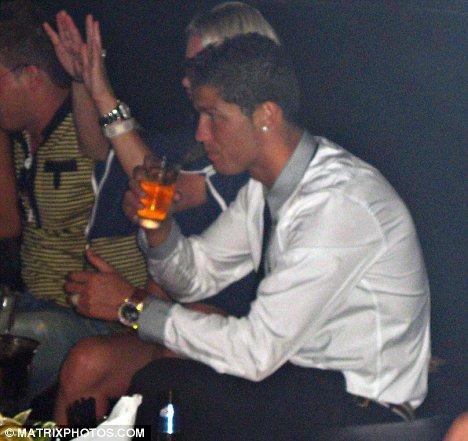 Cristiano Ronaldo Drinking Alcohol